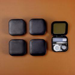 스퀘어 거울 렌즈케이스 5p세트 (블랙)