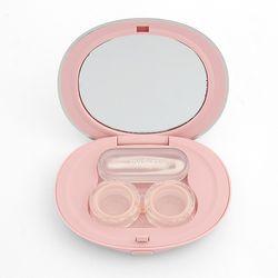 아이칸 거울 렌즈케이스 2p세트 (핑크)
