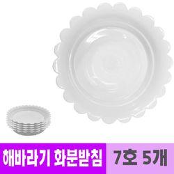 남영 플라스틱 해바라기 화분 받침 20cm 5개