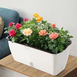 자동 급수 화분 식물 재배기 대형 플라스틱 텃밭 상자