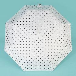 땡땡이 UV차단 완전자동 양우산 (화이트)
