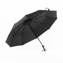 3단 완전자동 미끄럼방지 손잡이 우산 (60cm/블랙)