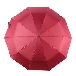 방풍 3단 완전자동 양우산 (레드)