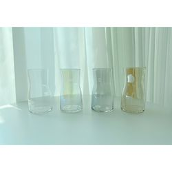 오로라 화병 홀로그램 유리 수경재배 투명 특이한 크리스탈