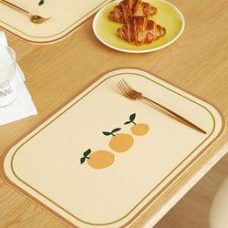 프리미엄 방수 PVC 식탁 테이블 매트 빈티지