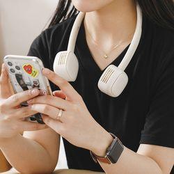 단풍나무 넥밴드 휴대용 에어써큐 2000mAh 듀얼팬 abc-0020