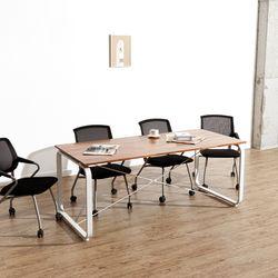 데임 A형 원목 회의테이블 1800x600