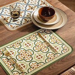 프리미엄 방수 PVC 식탁 테이블 매트  레트로