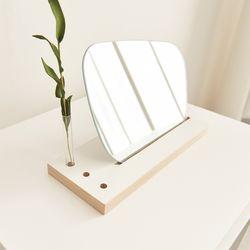 모리아 인테리어 노프레임 비정형 화장대 거울 세트