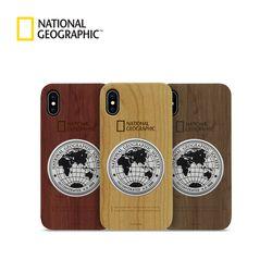 내셔널지오그래픽 아이폰6 메탈 데코 우드 케이스
