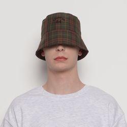 MW212 check bucket hat khaki