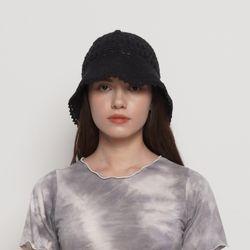 W212 knit bucket hat black