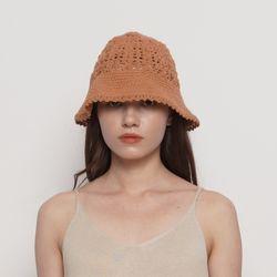 W212 knit bucket hat camel