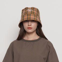 MW212 check bucket hat camel