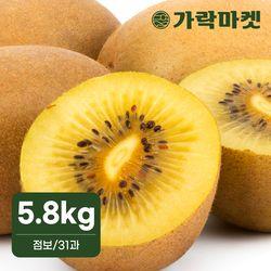 [가락마켓]제스프리 썬 골드키위 5.8kg 점보 (31과)