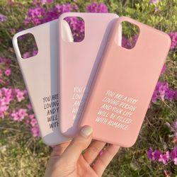 위드로맨스 영문레터링 핑크 이니셜 갤럭시아이폰케이스