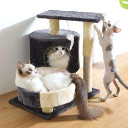 트윈서클 캣타워 고양이용품 스크래처 하우스 포함