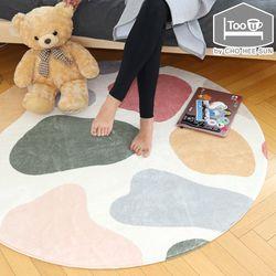로베니 고밀도단모 사계절 원형 러그(100)