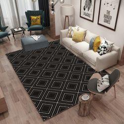 예은침장 유럽풍 거실 카페트 러그 카펫 매트 / 블랙