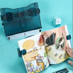 각도조절 휴대용 태블릿 독서대 책받침대 독서거치대 책거치대