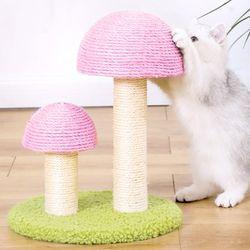 트윈 버섯 캣타워 수직 스크래쳐 고양이용품
