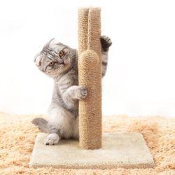 싱글 기둥형 캣타워 수직 스크래쳐 고양이용품