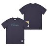 CANABIS LETTER STANDARD FIT T-SHIRTS PURPLE GRAY