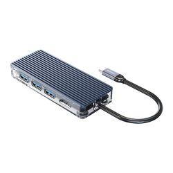 오리코 WB-8P USB허브 C타입 멀티허브 USB3.0 PD100W
