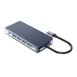 오리코 WB-11P USB허브 C타입 멀티허브 USB2.0 USB3.0 PD100W