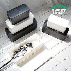 멀티탭 정리함 다용도 케이블 보관함 3size 2colors 소형 블랙