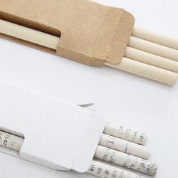 에코 종이 연필 5자루 재생 크라프트지로 만든 연필세트