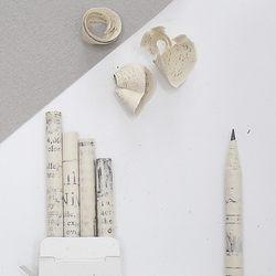 에코 종이 연필 5자루 버려진 영자신문으로 만든 연필세트