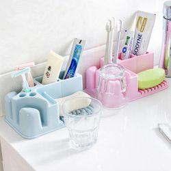 올인원 칫솔걸이 칫솔꽂이 비누받침대 욕실용품수납장