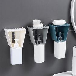 욕실 샴푸 디스펜서 비누 받침대 받침 곽 홀더 케이스