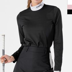 DMJG 1001 여자골프웨어차이나지퍼티셔츠