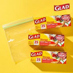 [글래드] 냉장형 중형 지퍼백(25매입) 3개 세트