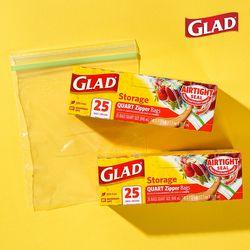 [글래드] 냉장형 중형 지퍼백(25매입) 2개 세트
