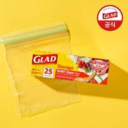 [글래드] 냉장형 중형 지퍼백(25매입)