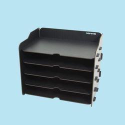 브론즈하우스 TWD-012 DIY 블랙 서류 가로 수납함 5단
