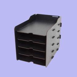 브론즈하우스 TWD-011 DIY 블랙 서류 수납함 5단