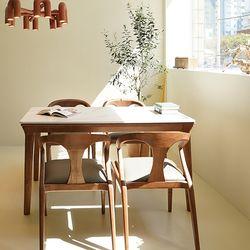 마루이 라플란드 에쉬브라운 통 세라믹 4인원목 식탁세트 의자형