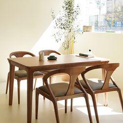 마루이 라플란드 에쉬 브라운 4인원목 식탁세트 의자형