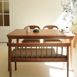 마루이 라플란드 에쉬 브라운 4인원목 식탁세트 벤치형