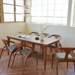 마루이 라플란드 에쉬 브라운 6인원목 식탁세트 의자형