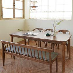 마루이 라플란드 에쉬 브라운 6인원목 식탁세트 벤치형