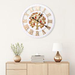 무소음 골드도금 돈나무 부엉이 GW22 인테리어벽시계