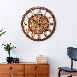 무소음 골드도금 돈나무 부엉이 GB11 인테리어벽시계