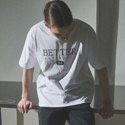 1112MW 헤리티지 로고 티셔츠 모노화이트