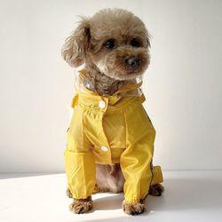컬리언컬리 강아지 우비 옐로우 2XL 3XL