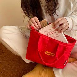 madefannie recipe bag -red 레시피 미니백 에코백